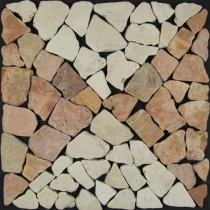 Pattern mosaic tile in marble (Mo-04) - Design 17