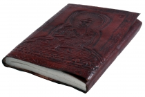 Notebook, leather book, diary with leather cover - Buddha 9*12 cm
