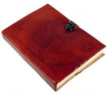 Notebook, leather book, diary with leather cover and `elephant mo..