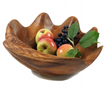 Fruit bowl mussel, carved fruit bowl