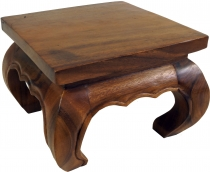 Opium table, tea table, solid wood flower bench - brown 30*30 cm