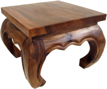 Opium table, tea table, solid wood flower bench -brown 35*35 cm