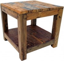 Coffee table, side table, coffee table in recycled teak - model 1..