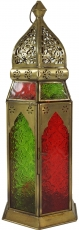 Oriental metal/glass lantern in Moroccan design, wind light