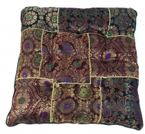Oriental brocade quilt cushion, chair cushion 40*40 cm - brown