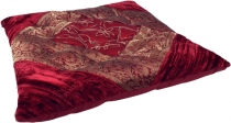 Oriental brocade quilted cushion, chair cushion 40*40 cm - red
