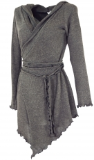 Pixi wrap cardigan - granite grey/model 1