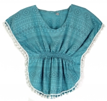 Poncho, girl`s blouse, tunic - blue
