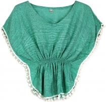 poncho, girls blouse, tunic - mint