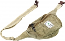 Practical hemp belt bag, ethno fanny pack, sidebag - natural