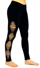 Psytrance, Goa Ladies Leggings Pants, Festival Yogahose - black