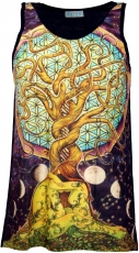 Psytrance Tank Top, Men Top - Tree of Life/black
