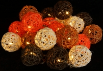 Rattan Ball LED Ball Lampion Lamp Light Chain - Summer Color