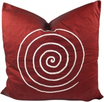 Retro cushion cover, cushion cover, decorative cushion - Spiral r..