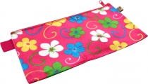 Retro wallet make-up bag `Flower`