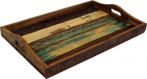 Rustic tray made of recycled wood
