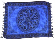 Bali sarong, wall hanging, wrap skirt, sarong dress - Celtic blue