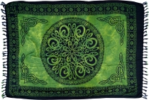 Bali sarong, wall hanging, wrap skirt, sarong dress - Celtic gree..