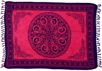 Bali sarong, wall hanging, wrap skirt, sarong dress - Celtic red