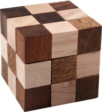 Wooden game, Skill game, Puzzle game, Wooden puzzle - snake cubes