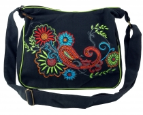 Shoulder Bag, Hippie Bag, Goa Bag - black/colored