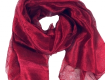 Silk scarf,Thai silk scarf - bordeaux