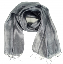 Silk scarf,Thai scarf made of silk - grey