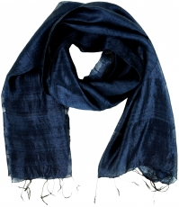 silk scarf,Thai scarf made of silk - night blue