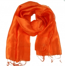 Silk scarf,Thai scarf made of silk - orange