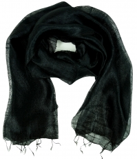 Silk scarf,Thai scarf made of silk - black