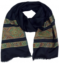 Silky shiny Indian Pashmina scarf/stole - black