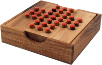 Board game, wooden parlour game - Solitaire