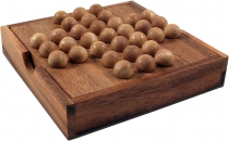 board game, wooden parlour game - solitaire, wooden stalk