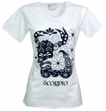star sign T-Shirt `Scorpion` - white