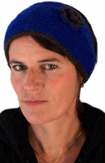 Wool headband - blue