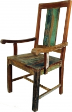 Chair with armrest in recycled wood in Vintgage Design - Model 14