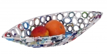 Upcycling fruit bowl, decorative bowl made of recycled paper
