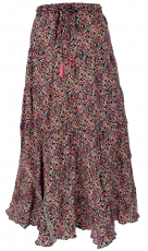Boho step skirt, silky maxi skirt hippie chic, flamenco skirt - b..