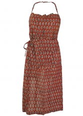Apron from India with block print motives