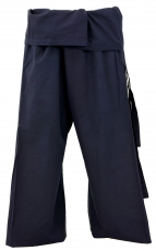 Thai cotton fisherman pants, wrap pants, yoga pants - M/L navy bl..