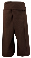 Thai cotton fisherman pants, wrap pants, yoga pants - M/L mocha b..