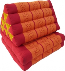 Thai cushion, triangular cushion, kapok, daybed with 2 pads - red..