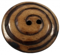 Tibet button from horn, button Spiorale - 1
