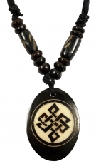 Ethno amulet, Tibet necklace, Tibet jewellery - Endless knot whit..