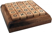 Board game, wooden parlour game - Tic-Tac-Toe
