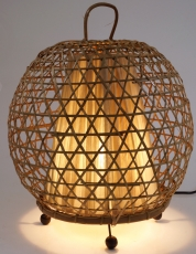 Table lamp/table lamp, handmade in Bali from natural material - M..