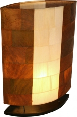 Table lamp/table lamp, handmade in Bali from natural material, ba..
