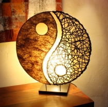 Table Lamp/Table Lamp Ying + Yang , in Bali handmade from natural..
