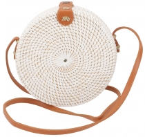 Woven handbag, basket bag, rattantasche, bali bag round - model 2