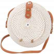 Woven handbag, basket bag, rattantasche, bali bag round - model 6
